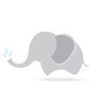 cute elephant spraying water cartoon drawing vector image vector image