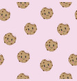 cute happy smiling chocolate chip cookies vector image