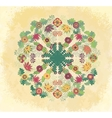 Decorative floral ornament on grunge background vector image vector image