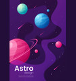 deep space futuristic cartoon background cover vector image vector image