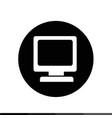 desktop computer icon design vector image vector image