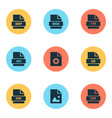 document icons set with system image pdf and vector image