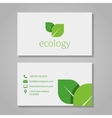 Ecological or eco energy company business card vector image