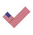 flag check mark vote 2020 in usa design american vector image vector image