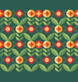 flowers and leaves nature background abstract vector image vector image