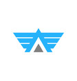 fly letter a logo icon design vector image