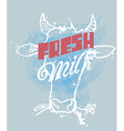 Fresh Milk vector image