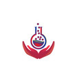 hand human lab logo designs inspiration isolated vector image vector image