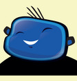 happy boy blue vector image vector image