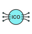 ico line icon simple minimal 96x96 pictogram vector image vector image