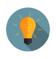 Idea Bulb Flat Icon with Long Shadow vector image