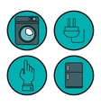 internet of things icons vector image