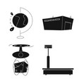 isolated object of goods and cargo symbol vector image