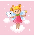 little girl princess with a magic wand vector image vector image