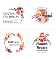 logo design with autumn flower concept for brand vector image vector image