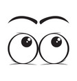 look up eyes cartoon vector image vector image