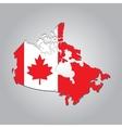 map Canada vector image vector image