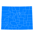 Map of Colorado vector image vector image