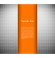Metallic background with orange card vector image