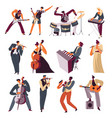 musicians playing instruments in orchestra vector image