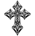 ornate celtic cross vector image vector image