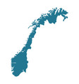outline silhouette of norwegian map vector image vector image