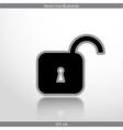 padlock web flat icon vector image vector image