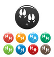 pig step icons set color vector image vector image