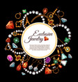 poster jewelry fashion accessories vector image