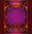 purple circus poster vector image vector image