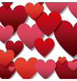 red and pinks hearts background vector image vector image