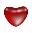 red shiny matte heart vector image