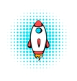 Rocket icon comics style vector image