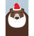 Russian Santa Claus-bear Wild animal with beard vector image