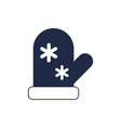 santa claus mitten isolated icon vector image vector image