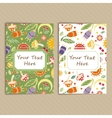 Set of Cards with Floral Pattern vector image vector image