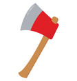 sharp axe on white background vector image vector image