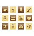 shop food and drink icons over brown background 1 vector image
