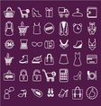 shoping flat Retail vector image