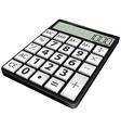 simple black calculator vector image vector image