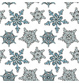 snowflake hand-drawn pattern repetiotion design vector image