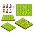 soccer football field and player isometric vector image