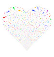 spermatozoon fireworks heart vector image vector image