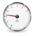 tachometer 3d vehicle gauge vector image vector image