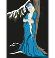 The Snow Queen with a crown EPS10 vector image