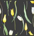 watercolor tulip pattern vector image vector image