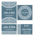 wedding invitation with lace vector image