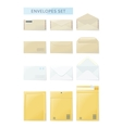 Envelope Set Open and Close Design Flat vector image