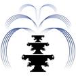 Retro Fountain Silhouette Icon Isolated vector image