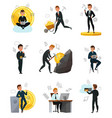cryptocurrency bitcoin set vector image